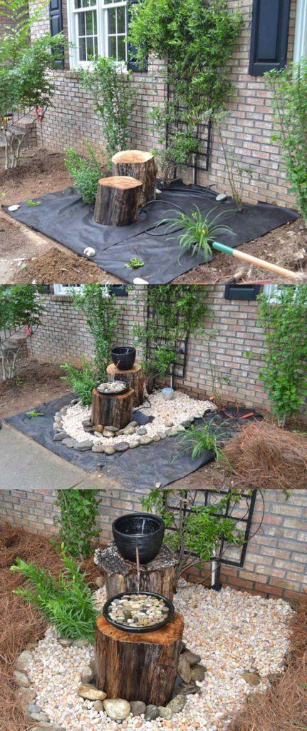 6 idees de fontaine de jardin a faire