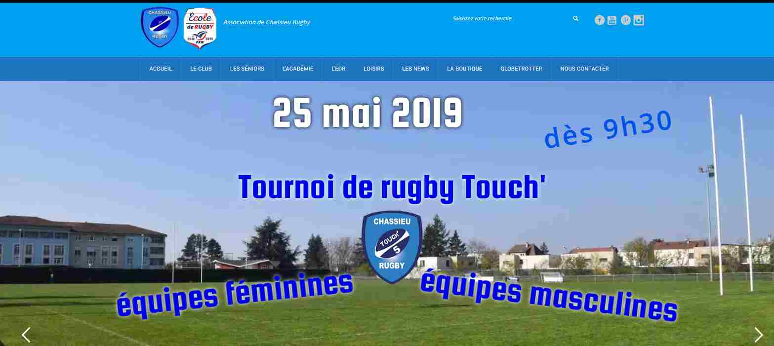 tournois Touch' rugby 25 mai 2019