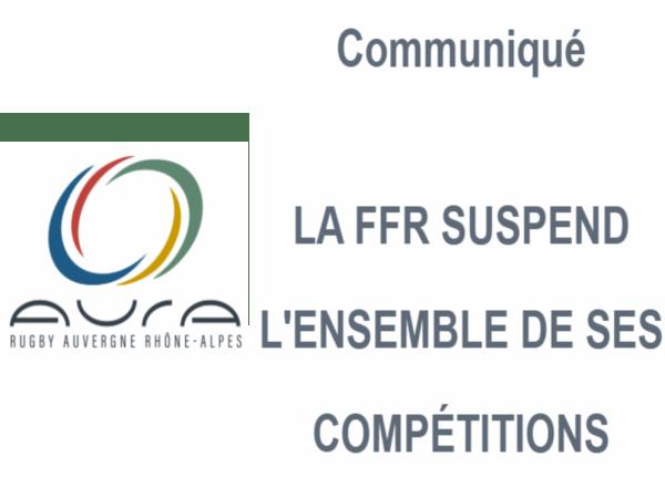 LA FFR SUSPEND L'ENSEMBLE DES COMPÉTITIONS