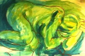 Blue nude #4