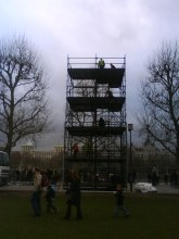 Scaffolding Tower on Southbank