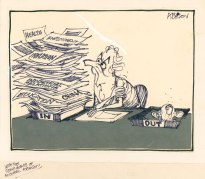 Michael Atchison's cartoon shows Gough with his ambitious areas of work