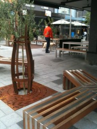 Eaton Mall, Seating and tree guard