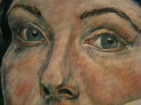 Portrait of a Young Woman - detail stage 2