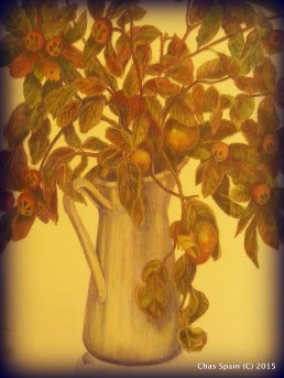 Persimmon and Medlars (Autumn study)
