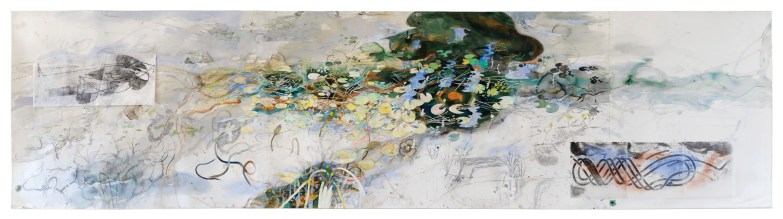 Daly River Creek, Mixed media on Paper by John Wolseley 2013