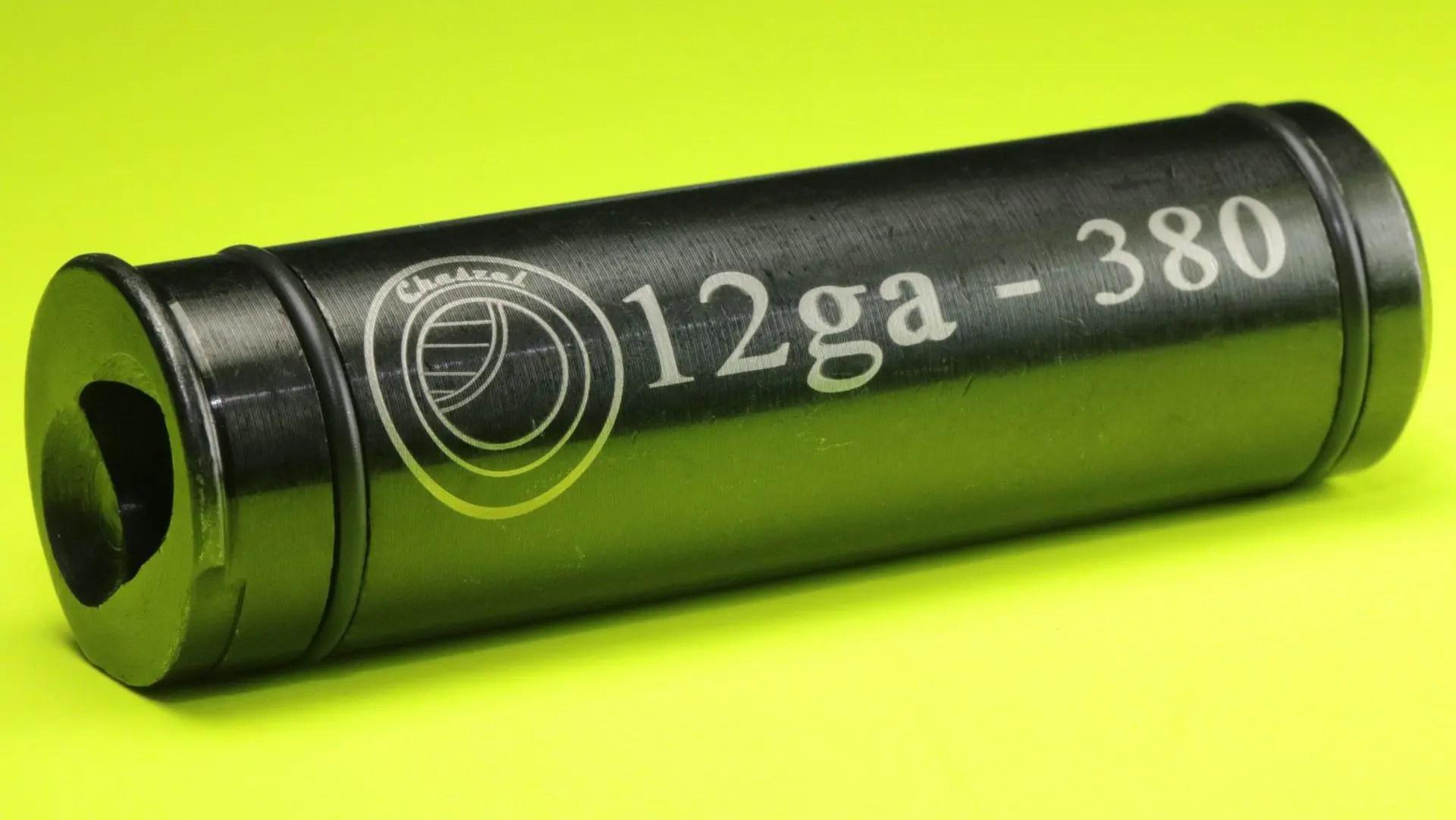 "Chaszel 12 Gauge to 380 Shotgun Adapter 2 3/4"" Long"