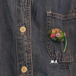 """Broche """"Petite Souris"""", accessoire mode créé par Georgia"""