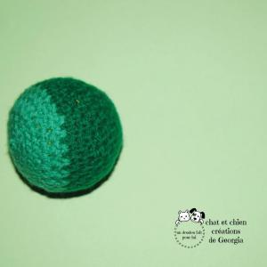 Ballaine bicolore verte, balle créée par Georgia