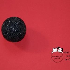 Ballaine lamée coloris noir fil métallisé argent