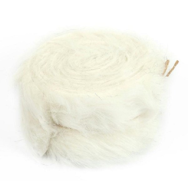 rouleau tissu synthétique coloris blanc pour création Serpenpoil par Georgia