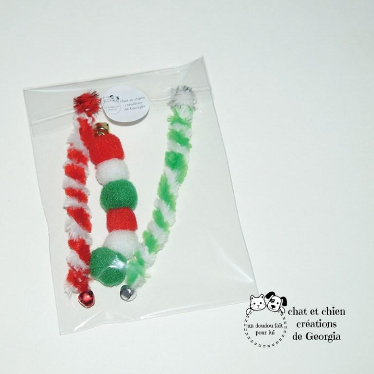 Sachet de Vermi'sons et Chenillette de Noël, jouets pour chat créés par Georgia