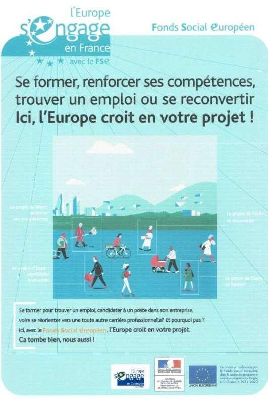 Affiche FSE Occitanie