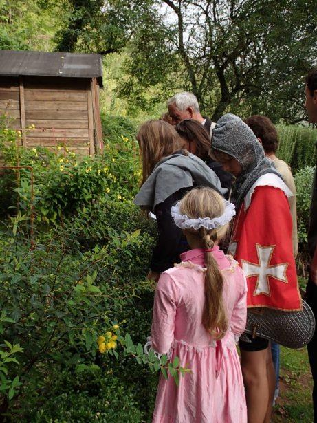 Visite jardin médiéval