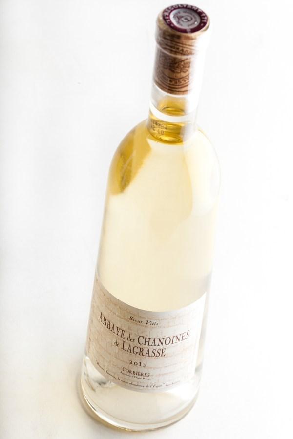 vin blanc abbaye des chanoines de Lagrasse