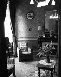salon en noir et blanc