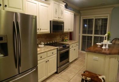Dark Oak Cabinets Changed To Gray