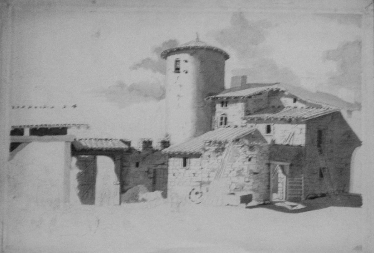 Saconay - La cour de la Carrodière