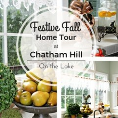 Festive Fall Home Tour at Chatham Hill on the Lake www.chathamhillonthelake.com