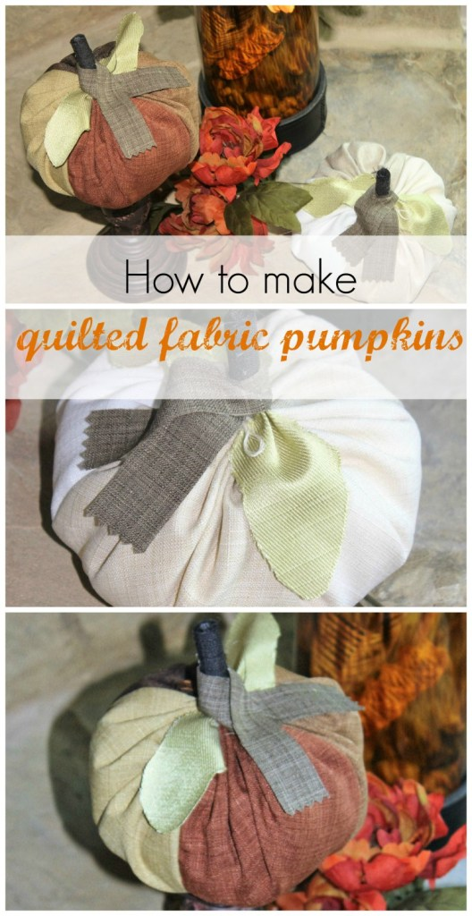 Fall Quilted Fabric Pumpkins www.chathamhillonthelake.com
