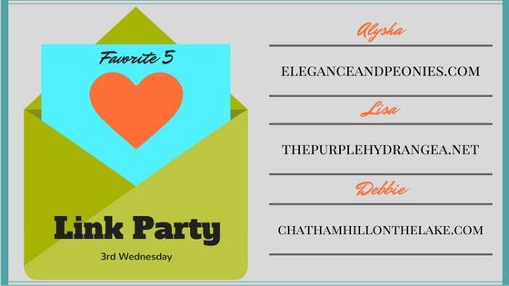 Favorite 5 September Link Party www.chathamhillonthelake.com