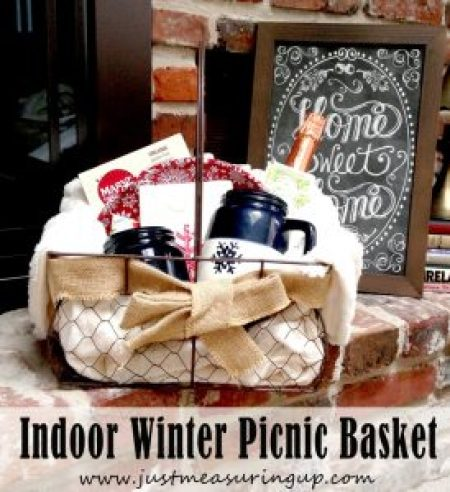 Indoor Winter Picnic Basket