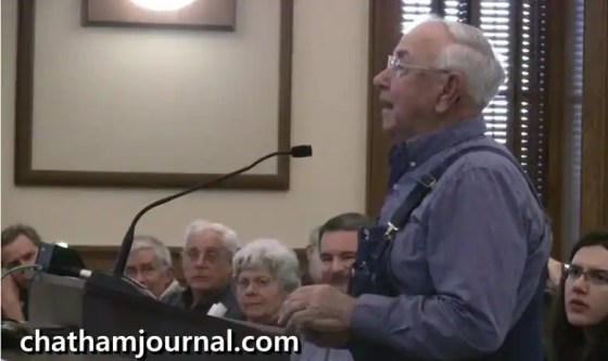 Former Chatham planning board chairman Tommy Glosson