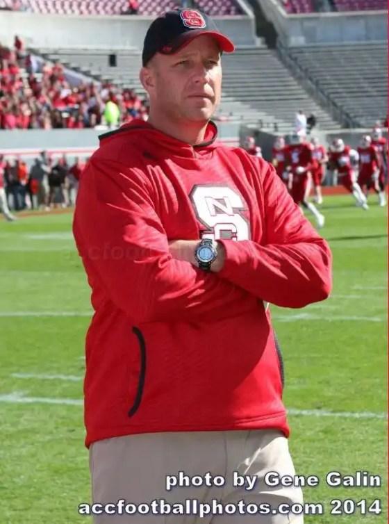 NC State football coach Dave Doeren