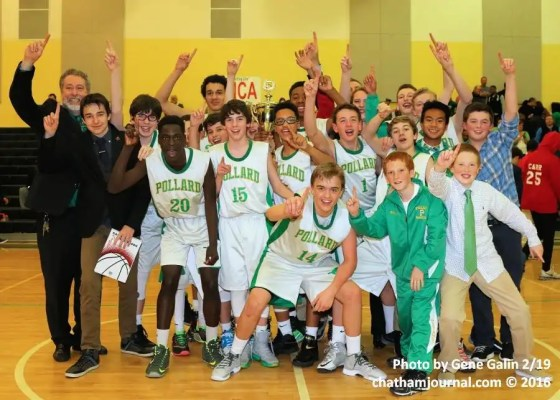 Pollard Middle School boys were the Chatham County Schools Middle School Basketball Tournament Champions