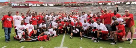 Former NC State football players will return to play in the alumni football game.