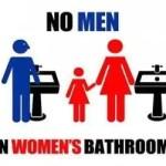 No men in women's bathrooms
