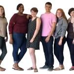"""JMArts Summer Scholars ready for summer adventures are (from left): Alyssa Gaines, Elizabeth """"Lizzy"""" Cheek, Jasmine Brower, Konner Williams, Michael Vasquez, Corrine Collison, Makani McKenzie and Karmen Brown."""
