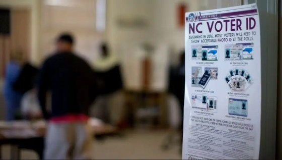 Early voting voter ID