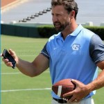 UNC haed football coach Larry Fedora.