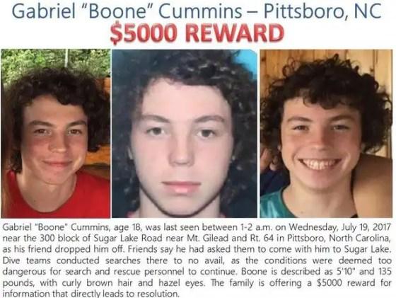 Boone Cummins Reward Poster