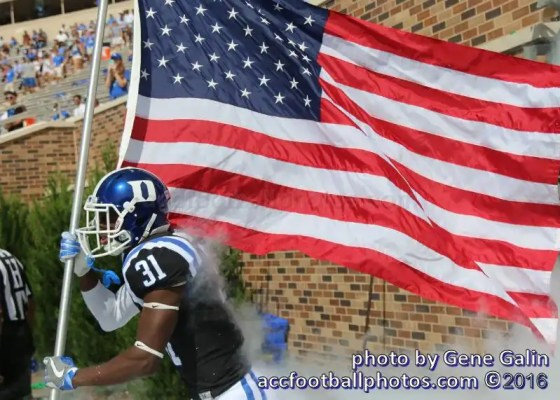 Duke football photo by Gene Galin
