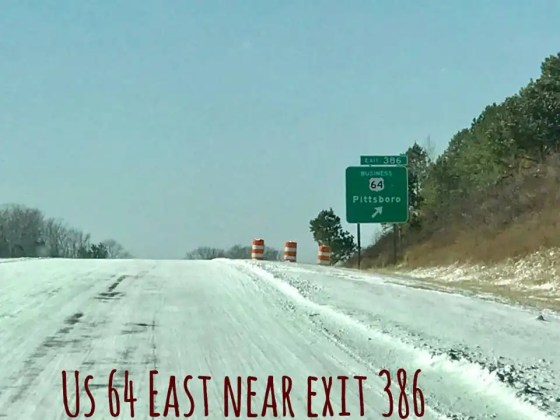 US 64 east near exit 386