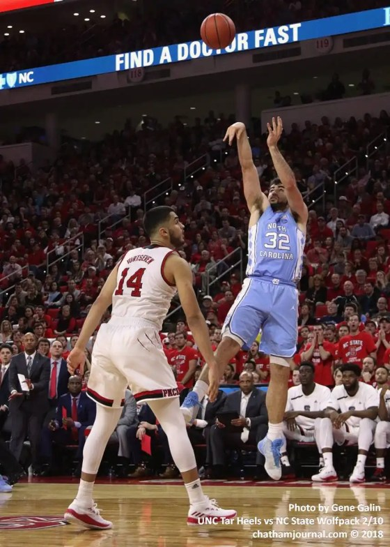 UNC's Luke May takes ahot.