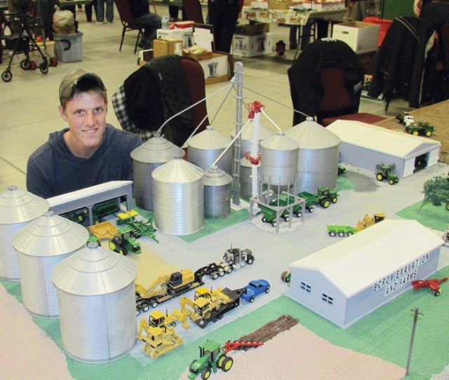 Brandon Crows Rural Landscape Model Impressed Visitors To The Annual Chatham Toy Show Last Weekend