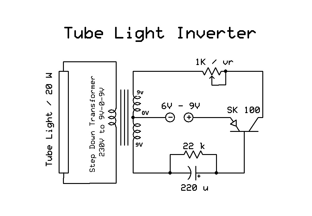 simple inverter circuit diagram