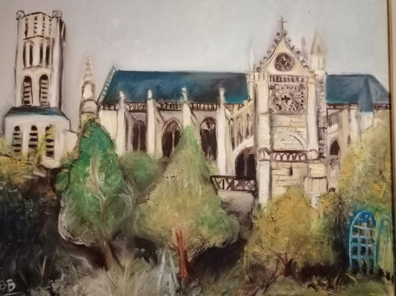 cathedrale de limoges vue du jardin