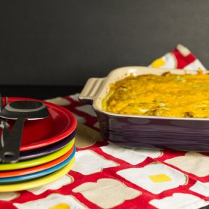 My grandmother's egg soufflé is really a traditional breakfast casserole. It's super-simple to make and it's an über-delicious crowd pleaser!   chattavore.com