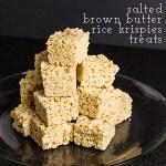 Pinterest Test Kitchen: Salted Brown Butter Rice Krispie Treats + Video