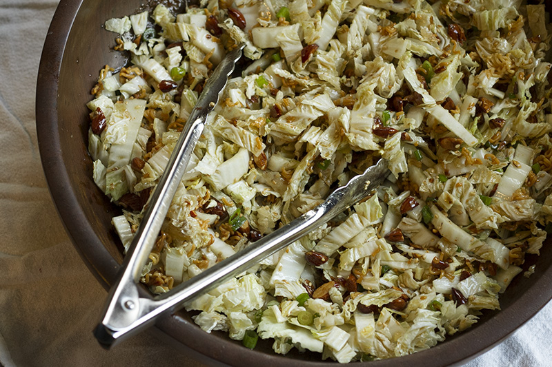 This Napa cabbage salad & teriyaki chicken tacos are delicious and so simple to make, especially if you have leftover teriyaki chicken in the fridge! | recipes from chattavore.com
