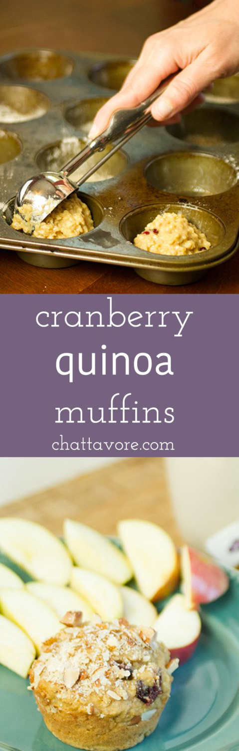 Cranberry-almond quinoa muffins back some of my favorite flavors into a dense, filling, satisfying muffin, perfect for a weekday breakfast. | recipe from Chattavore.com