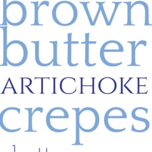 These crepes with brown butter artichoke sauce are easy and tasty. They're great for lunch or dinner (or really, even brunch)! | recipe from Chattavore.com