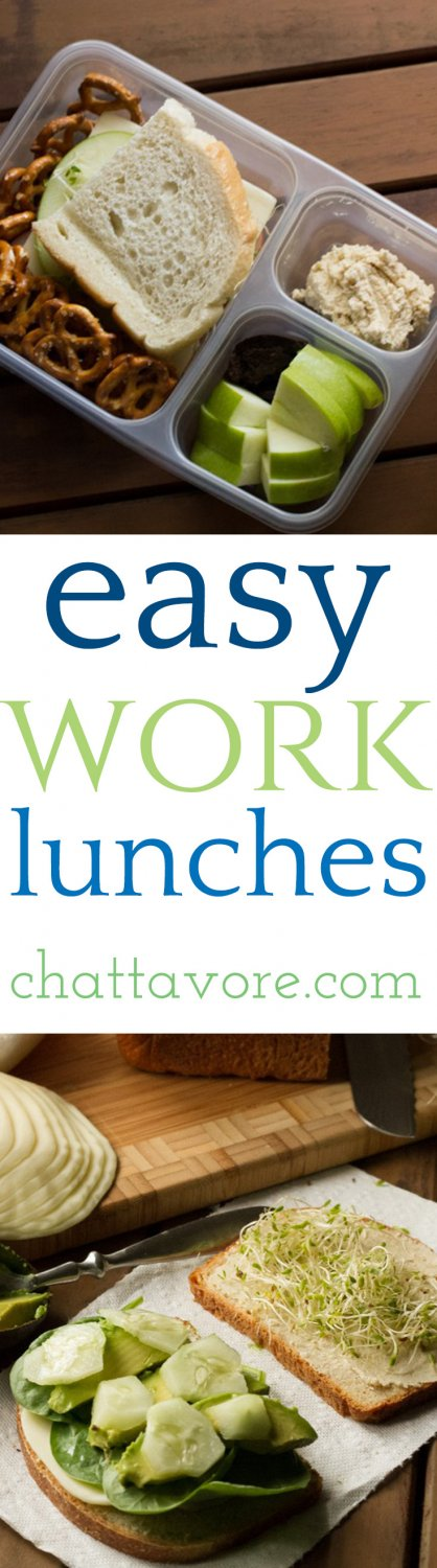 Sandwiches can get super boring when you pack a lunch every day, but these sandwiches are easy work lunches that won't bore you to death! | recipes from Chattavore.com