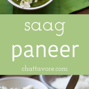 Homemade cheese may sound daunting, but I promise it isn't. This easy saag paneer (spinach & cheese curry) is a delicious and filling dinner! | recipe from Chattavore.com