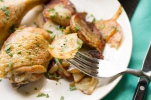 brined chicken & potatoes Lyonnaise // chattavore