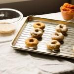 Pumpkin Spice Donuts with Buttermilk Glaze